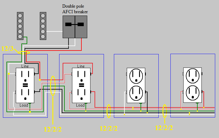 wiring diagram switched gfci outlet 1987 toyota pickup vacuum line electrical circuits in a workshop - home improvement stack exchange