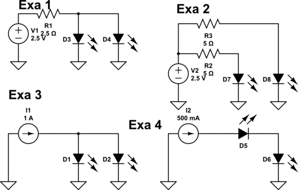 Can I connect high power LEDs in parallel without resistor