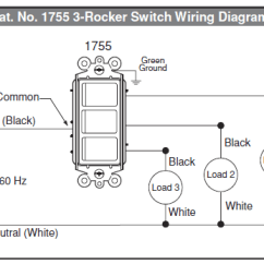 Lighted Rocker Switch Wiring Diagram For A Light And Outlet Electrical Diagrams Control Data How To Wire Multi Home One Way