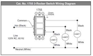 electrical  How to wire multicontrol rocker switch  Home Improvement Stack Exchange