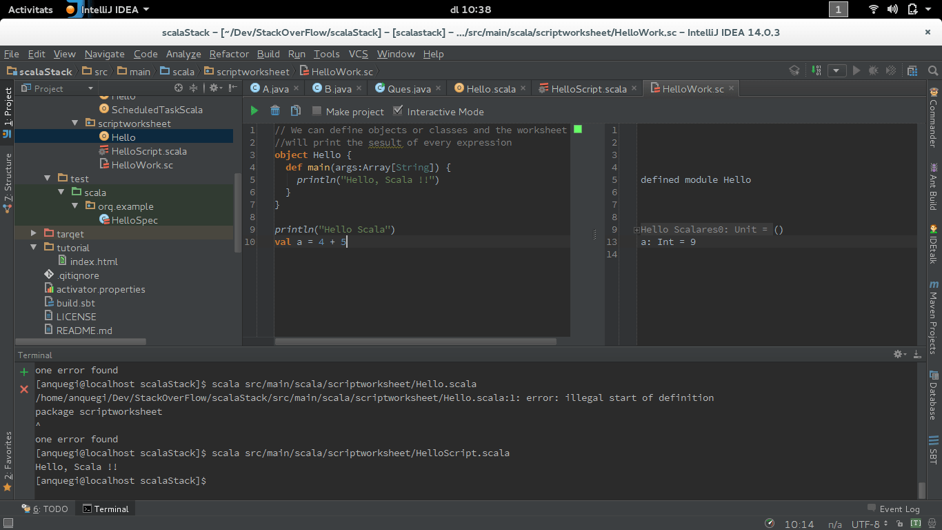 What Is The Difference Between Scala Classes Scripts And Worksheets In Intellij Idea
