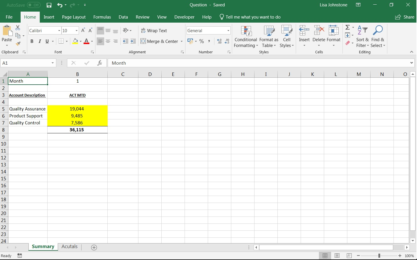 Excel Create A Summary Using A Drop Down Obtaining Data