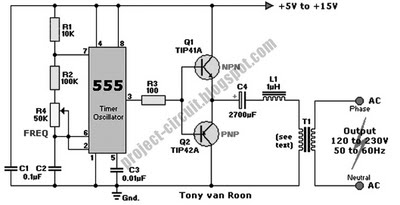 siwire: 12v To 240v Inverter Circuit Diagram