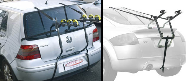 buying a car with the bike rack in mind