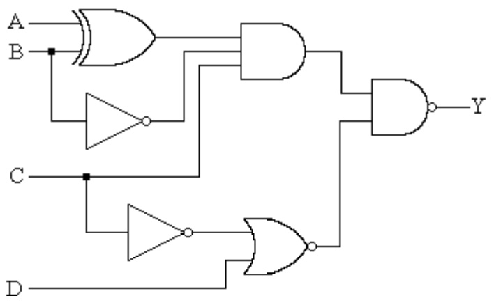 Matlab program for calculate logical circuit outputs
