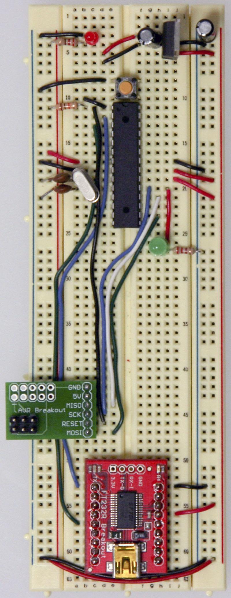 Arduino On A Breadboard Schematic Arduino Breadboard Schematic