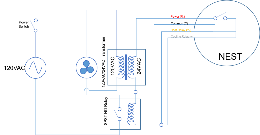 Volt Furnace Transformer Wiring Diagram Besides Nest