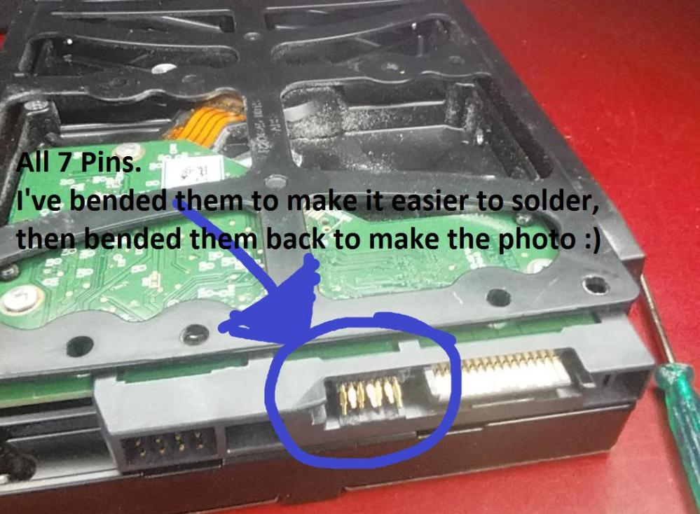 medium resolution of hdd with the broken sata data connector