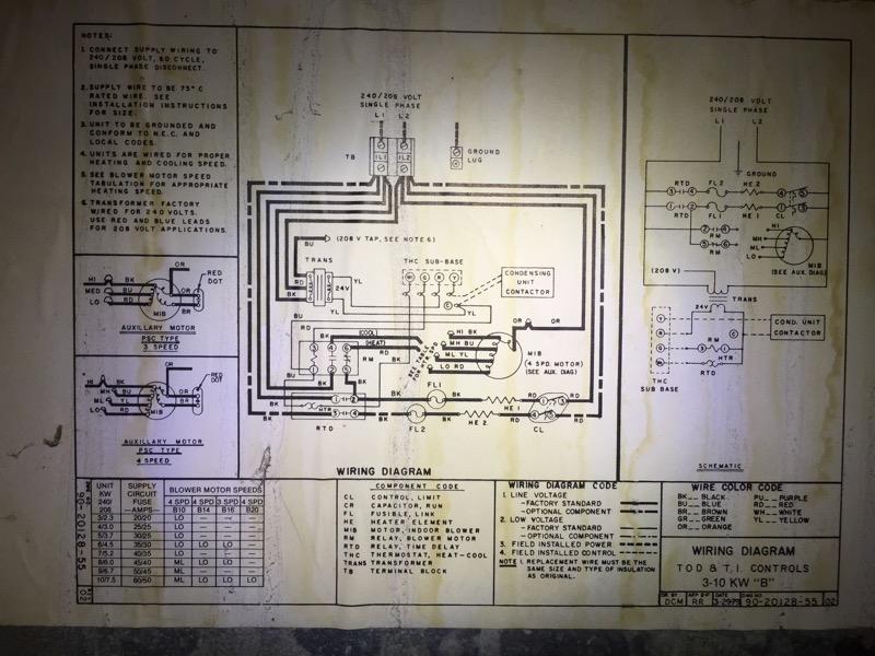 Rheem Thermostat Wiring Diagram 1994