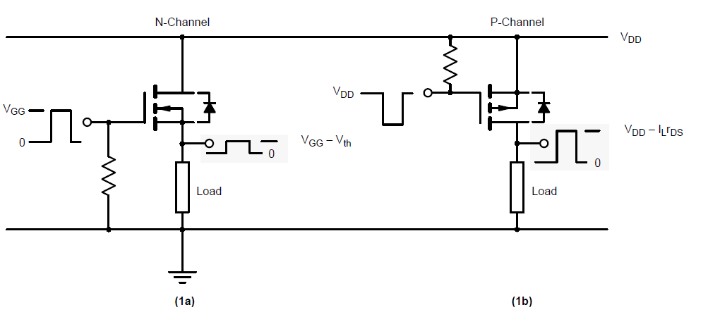 driving pchannel mosfets with a microcontroller