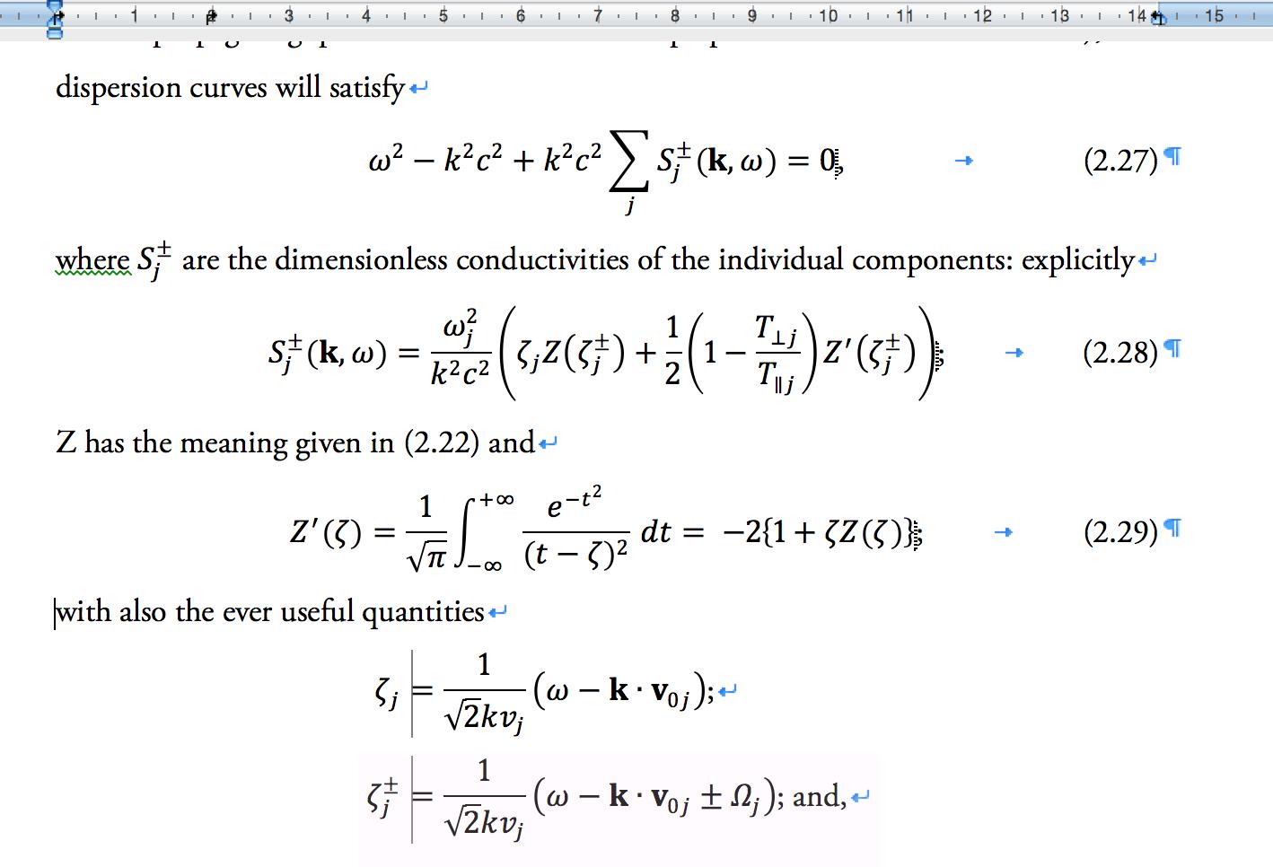 Math Word Equations