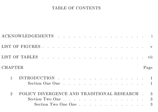 Table Of Contents Format ToC For Thesis TeX LaTeX Stack Exchange