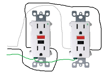 110v Plug Wiring Diagram In Series Electrical How Do I Properly Wire Gfci Outlets In