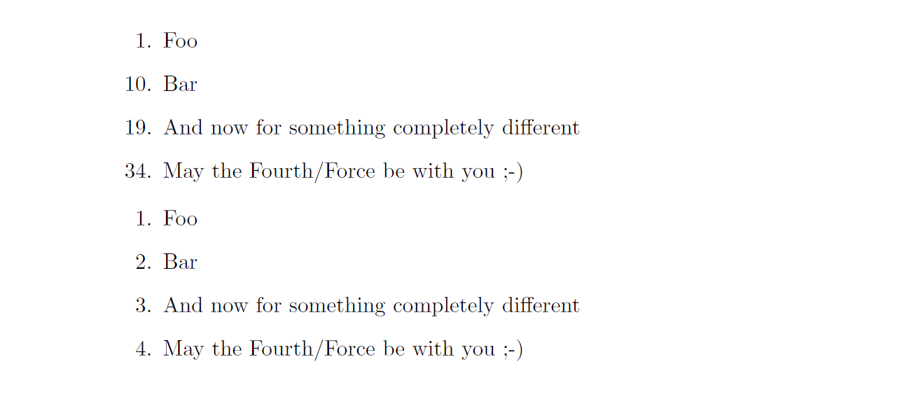 Numbering only selected numbers in Latex (enumerate