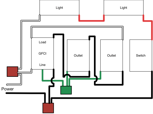 small resolution of electrical how to add gfci protected switches and lights to a 2 wiring a light switch in garage