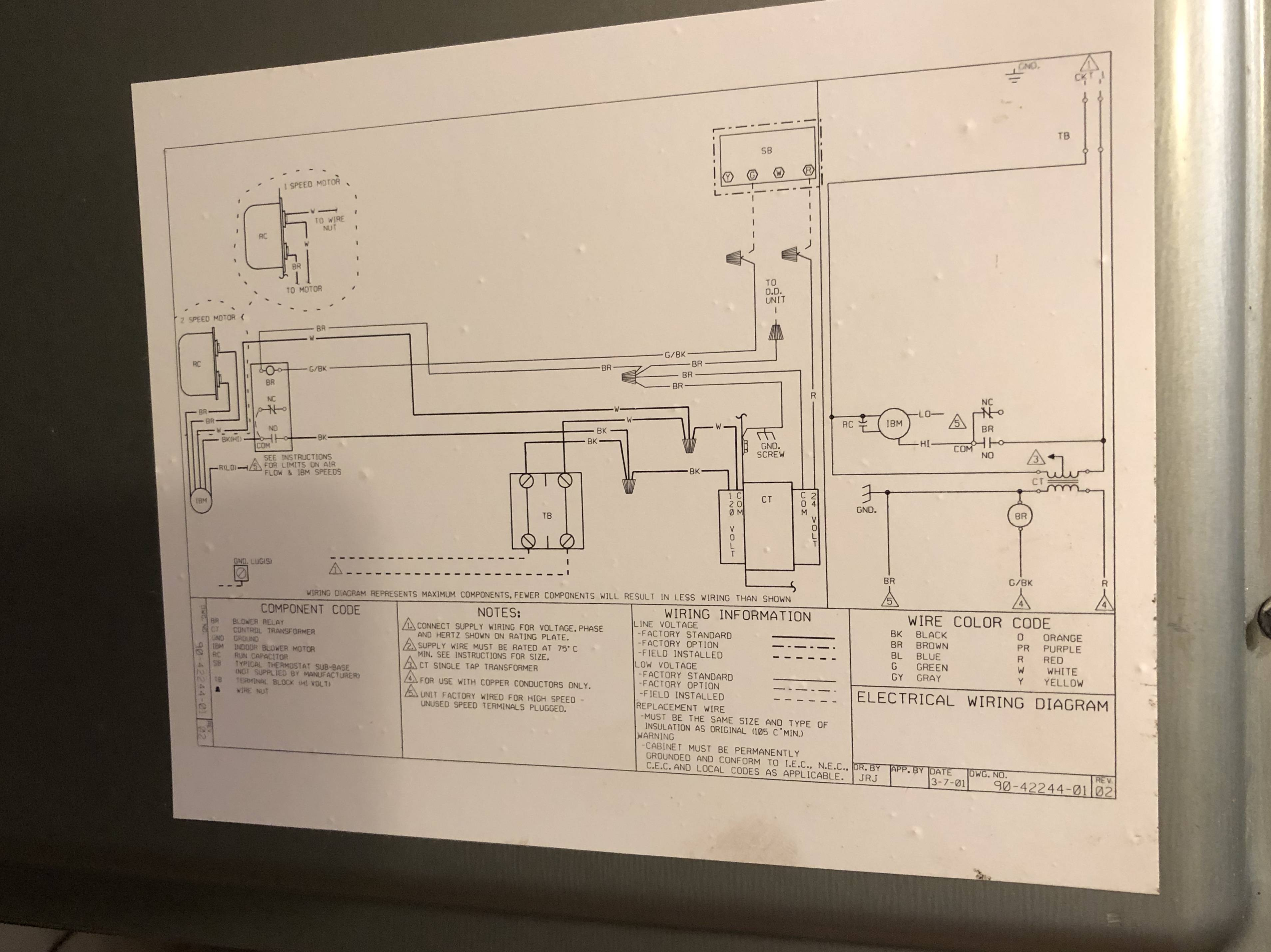 Thermostat Wiring In Addition Trane Air Handler Wiring Diagrams On