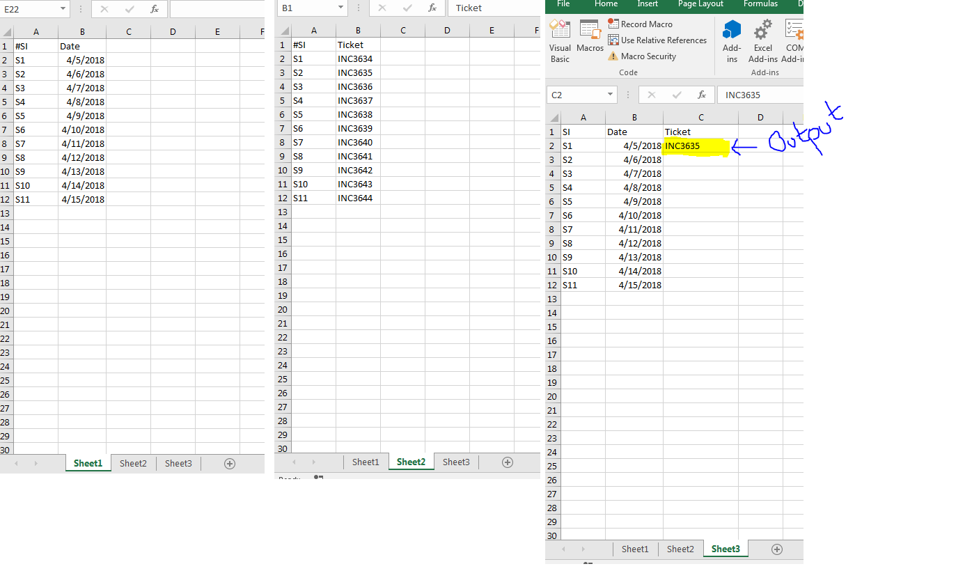 Multiple Sheet Lookup In Excel Using Vba