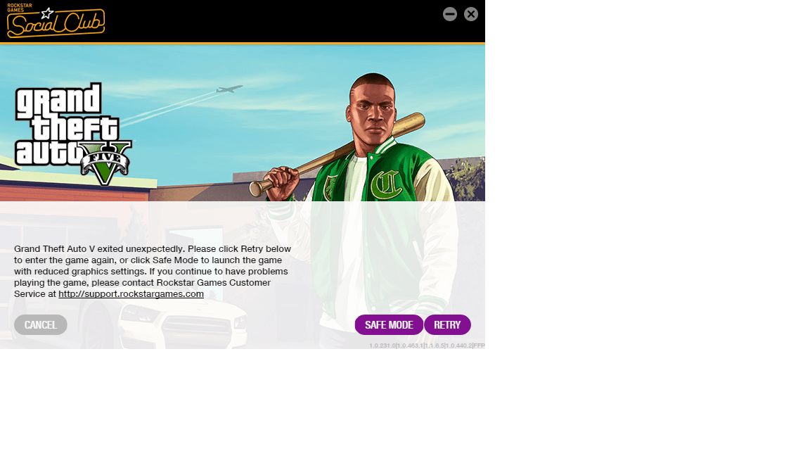 Game exited with code 0xc0000005 :: Grand Theft Auto V ...