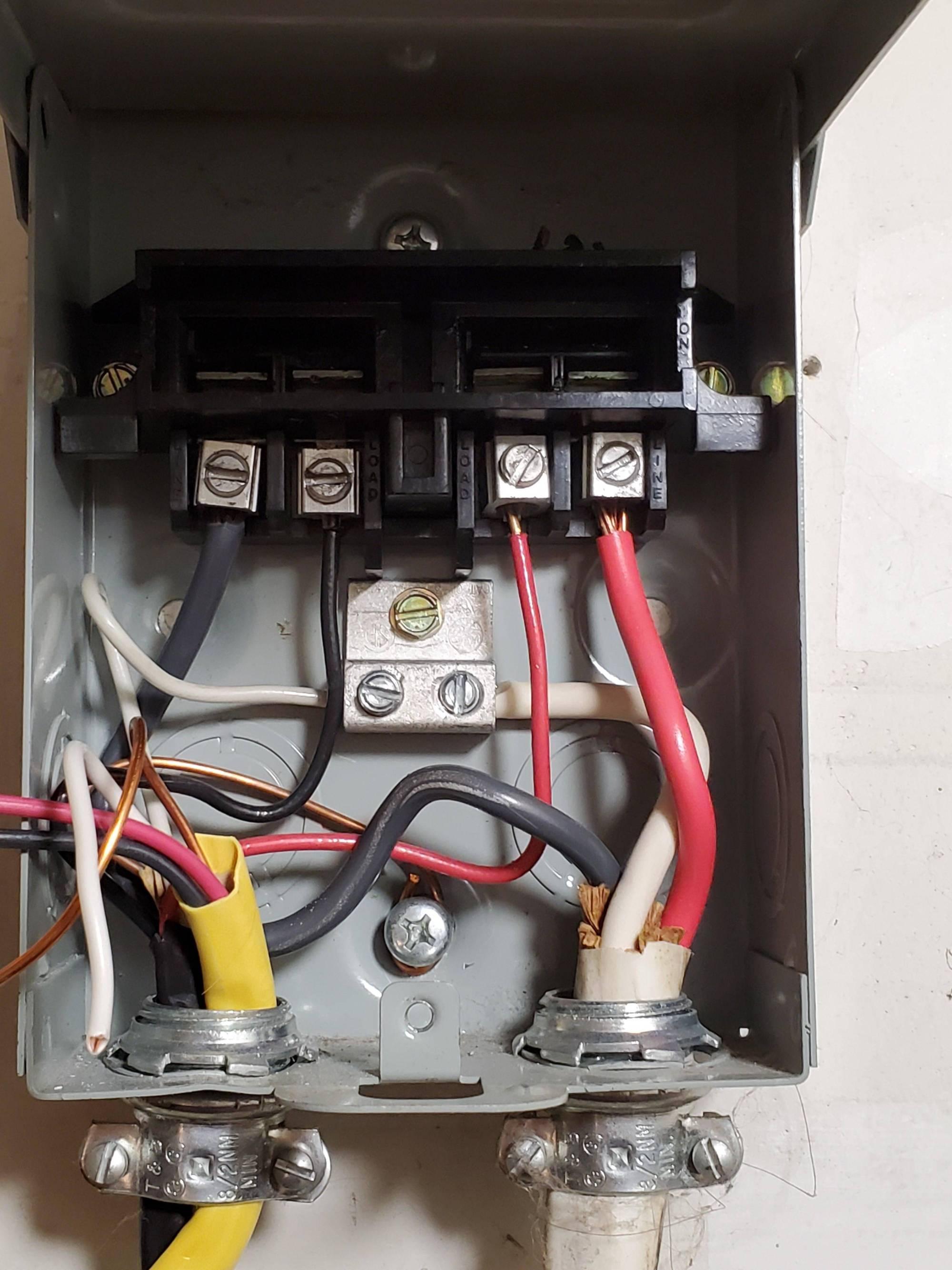 hight resolution of 240v new mini split ac on existing spa disconnect home split ac 240v wiring