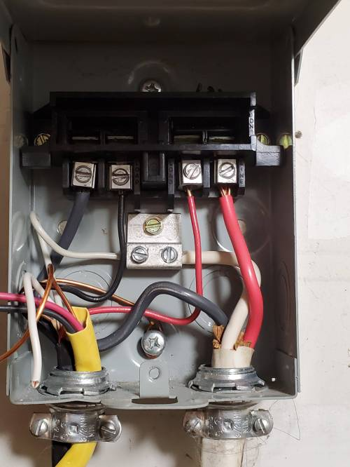 small resolution of 240v new mini split ac on existing spa disconnect home split ac 240v wiring
