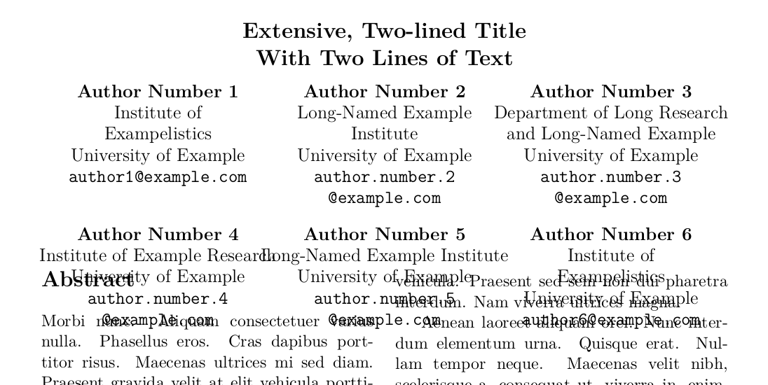 Spacing Extend Space For Many Authors In Conference Paper TeX
