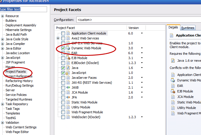 Fixing error in Eclipse:Run on server option not visible for maven