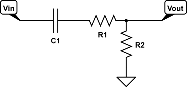 What is the purpose of this simple 1 capacitor 2 resistor