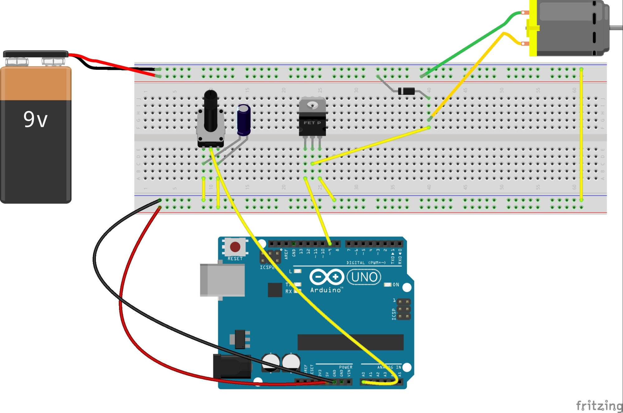 hight resolution of use potentiometer to control motor s speed