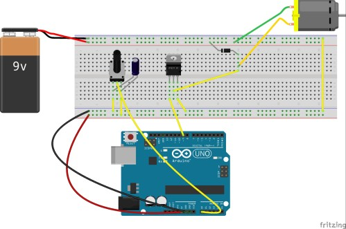 small resolution of use potentiometer to control motor s speed