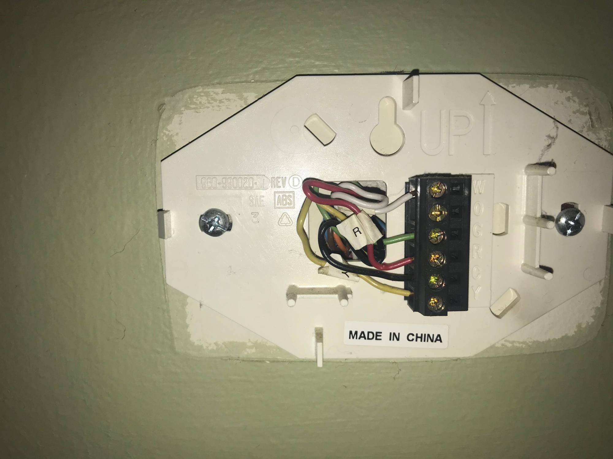 hight resolution of other thermostat wiring located downstairs second thermostat