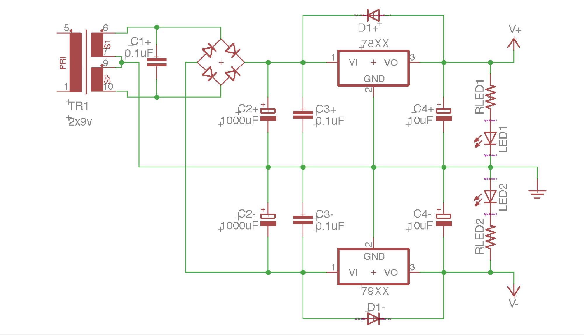 hight resolution of building a dual rail regulated dc power supply 1 diode bridge how to build dualrail variable dc power supply circuit diagram