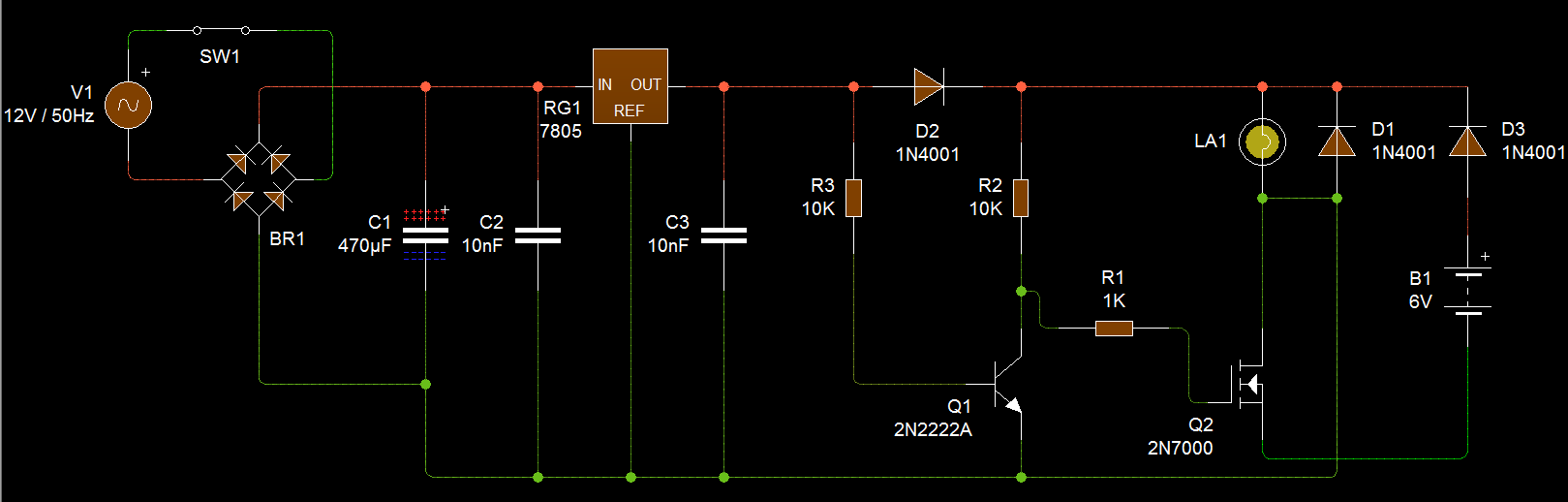 hight resolution of switchable dc battery circuit
