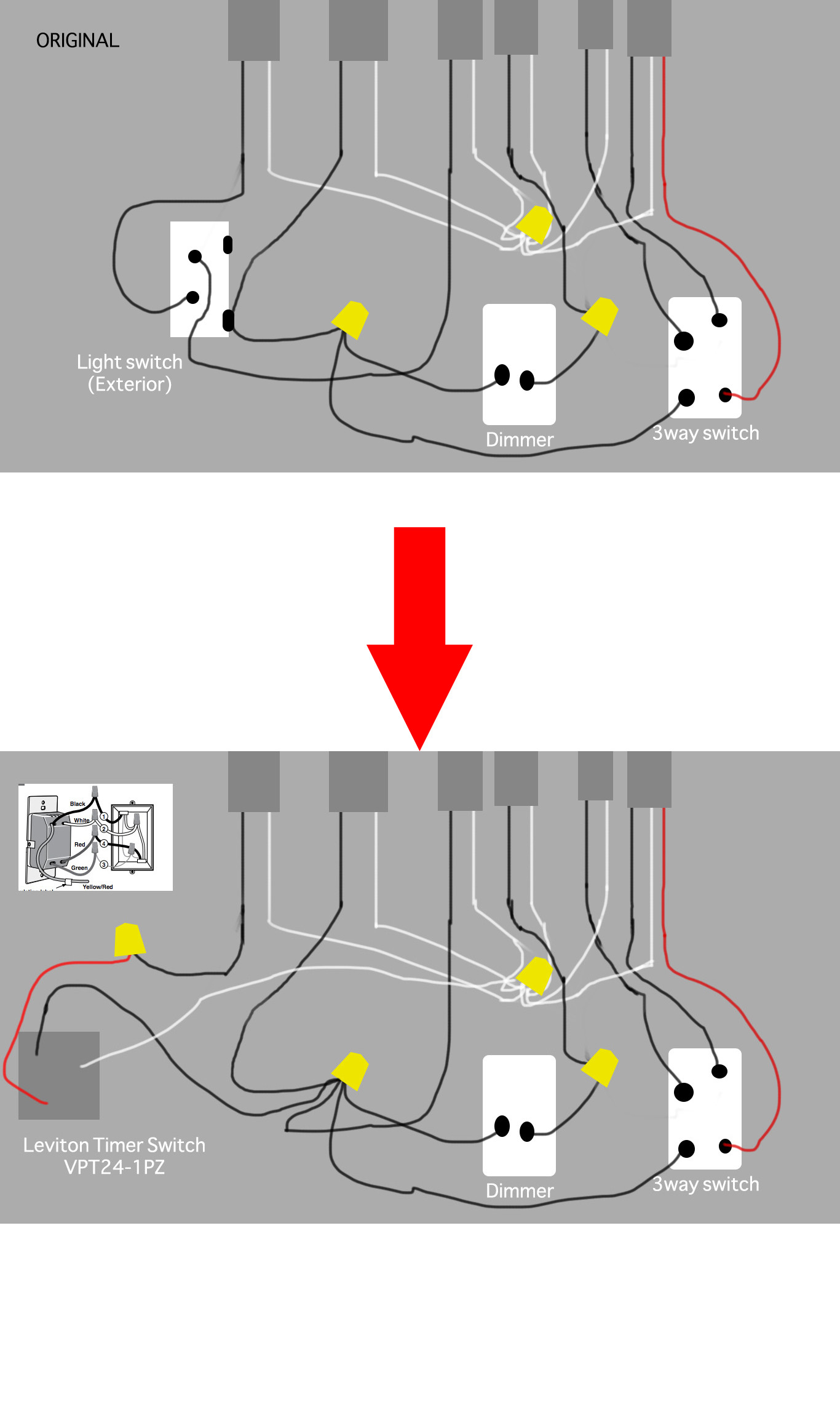 installing a 3 way switch with wiring diagrams coleman evcon heat pump diagram how can i install leviton timer in this box