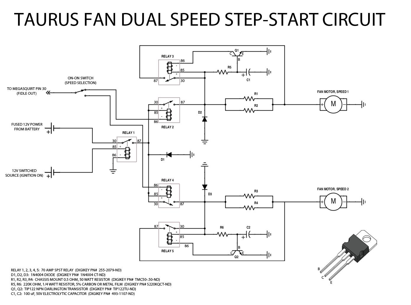Hunter Pump Start Relay Wiring Diagram Transistors Basic 12v Step Start Circuit For Automotive