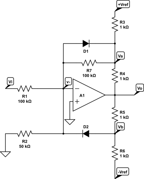 what does this opamp circuit do with parallel diode and resistor