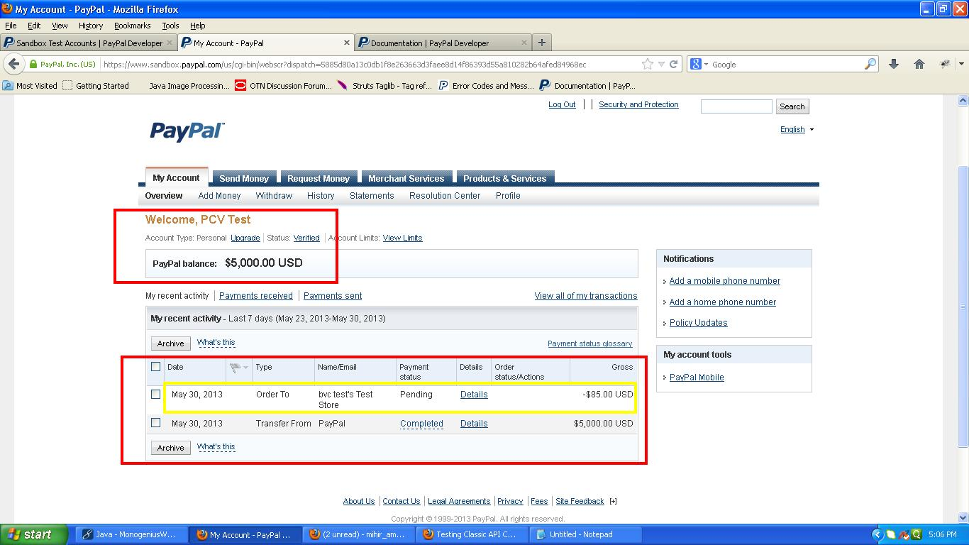 java  Paypal Sandbox Business Account not credited and Buyer is not debited  Stack Overflow