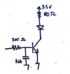 schematic showing a simple npn switching circuit [ 1524 x 1536 Pixel ]