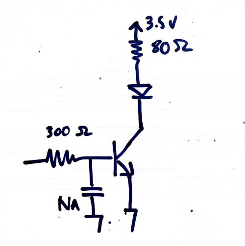 small resolution of schematic showing a simple npn switching circuit