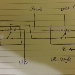 12v Changeover Relay Wiring Diagram 13 Pin Caravan Plug Towbars Best Socket Light Two Relays For Drl On A Car Electrical