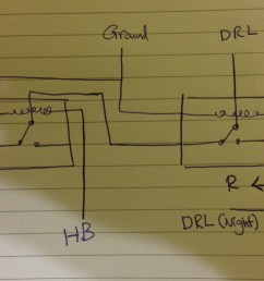 light two relays for drl on a car electrical engineering stack on the relay that you buy this diagram is typical of most relays [ 2408 x 1534 Pixel ]