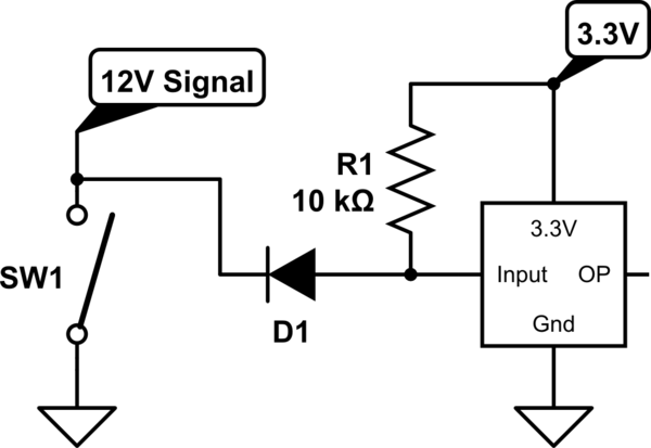 Sense Automotive 12V Circuit from 3.3V microcontroller