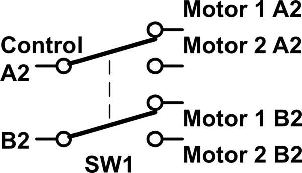 Driving two stepper motors using one stepper motor driver