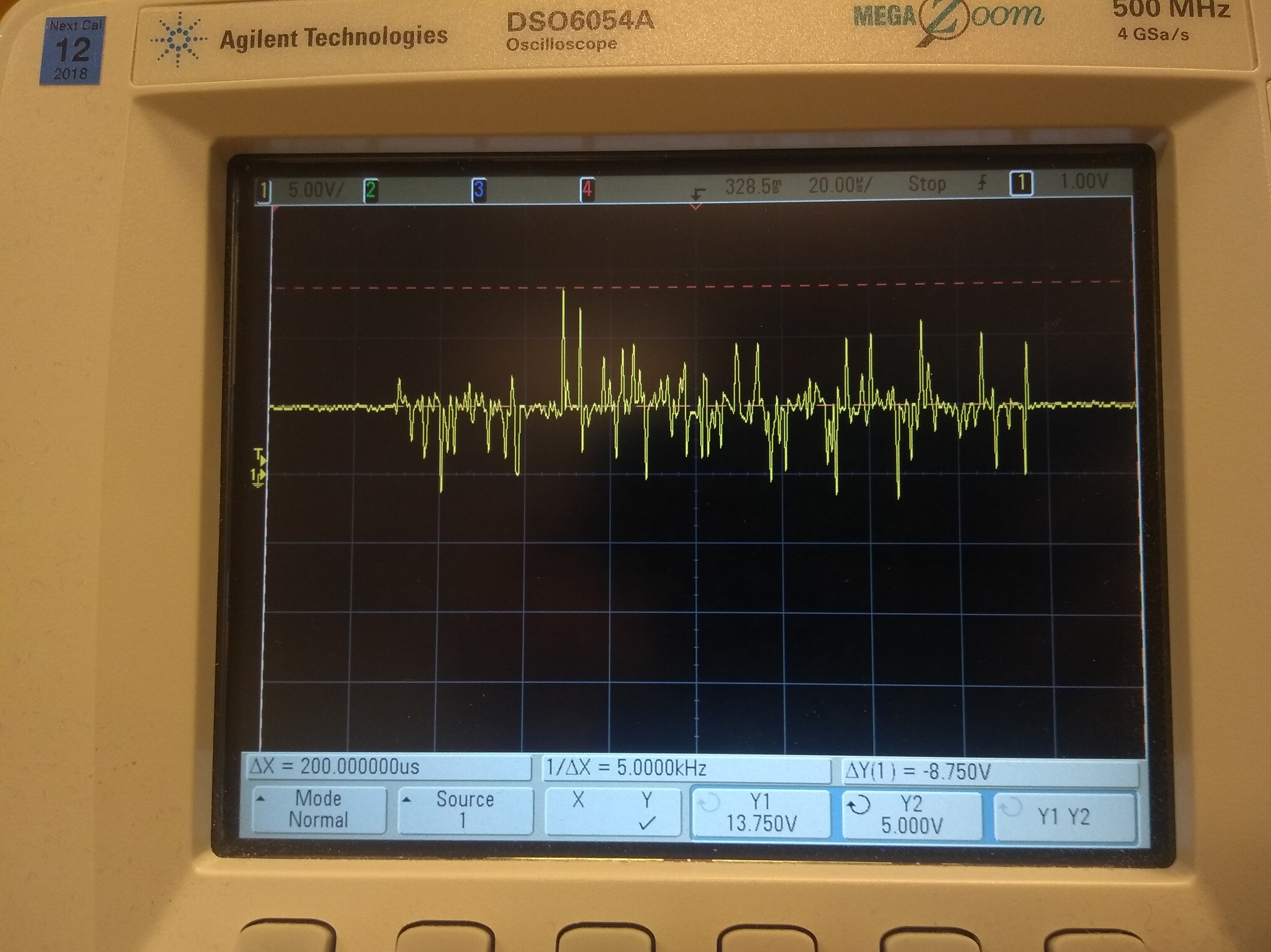 Supply Voltage Of 5v The Wbo Circuit And The Image Of The Waveform