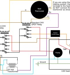 diagram wiring controlling 110v swamp cooler using nest thermostat  [ 2111 x 1461 Pixel ]