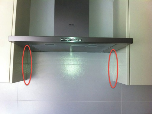 Tiling How To Fill The Joint Between Tiles And Cabinets
