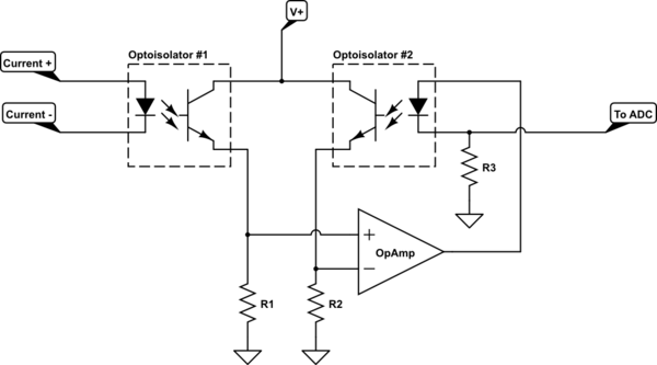 Using a microcontroller ADC to measure a 4-20mA sensor