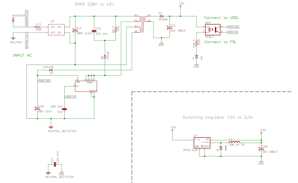 medium resolution of transformer and ic heating in viper22a smps design