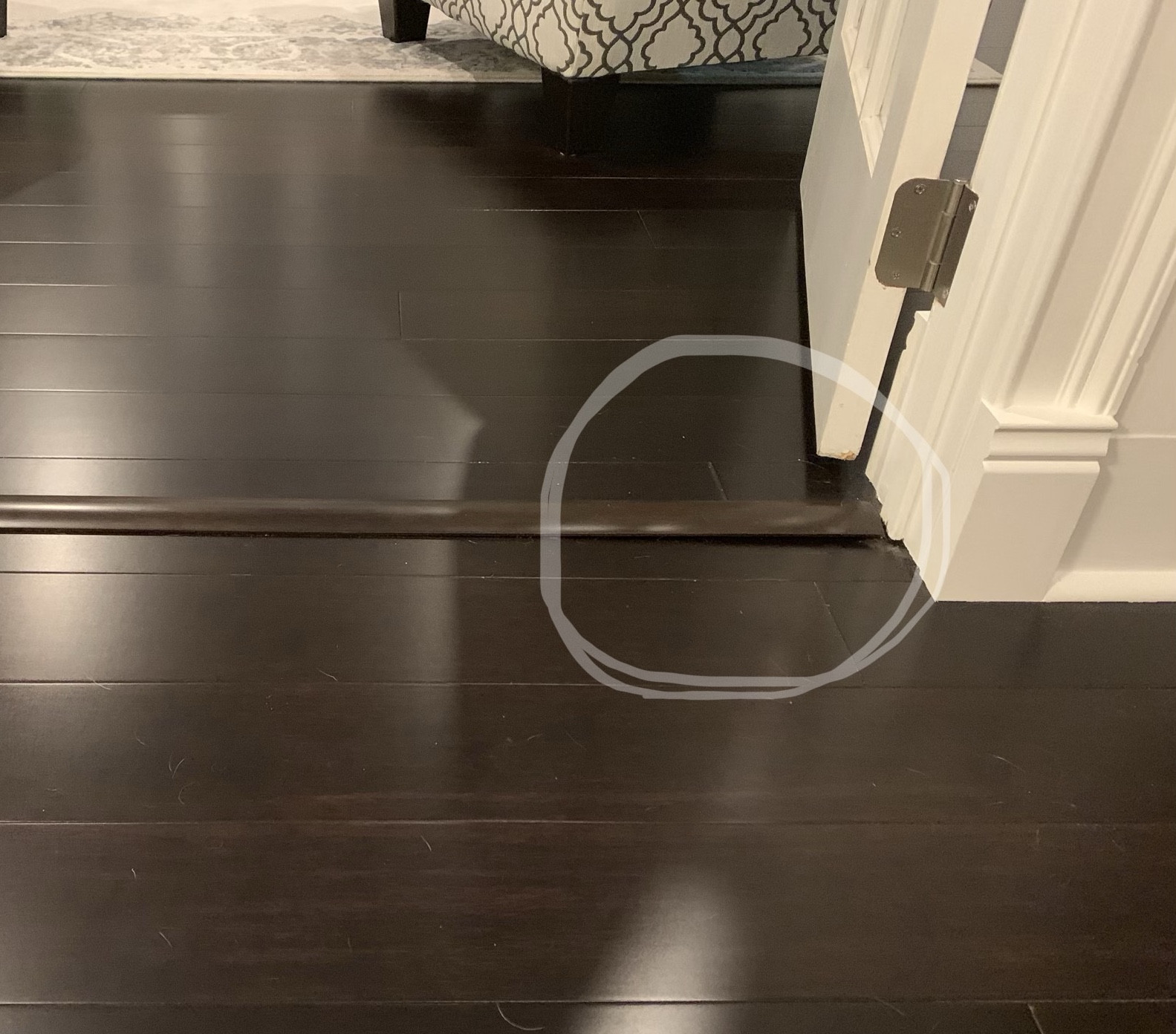 wood floor transition strip home