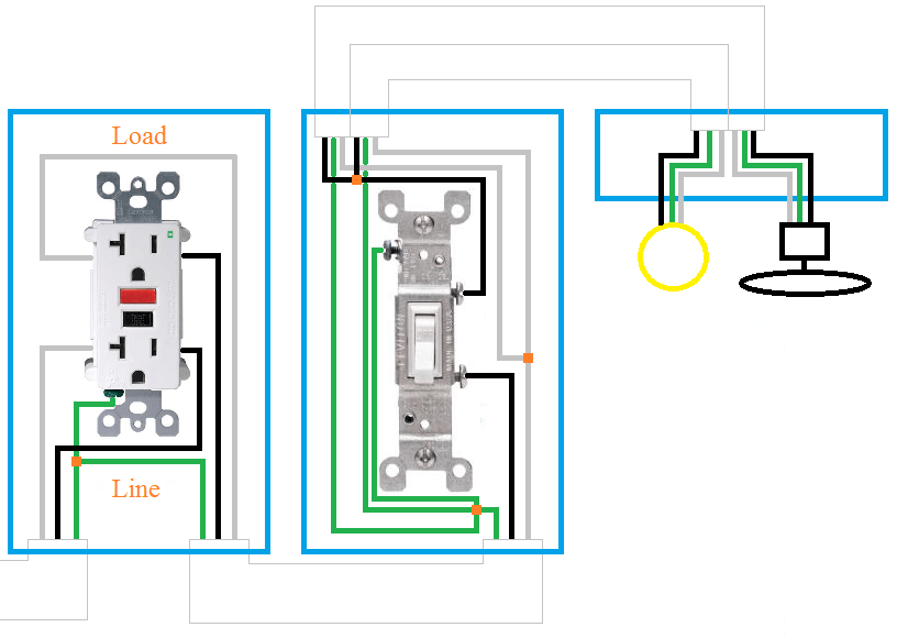 wiring a switched outlet diagram motor capacitor manual electrical how can i rewire my bathroom fan light and receptacle enter image description here