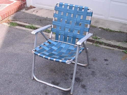 Image result for folding like a cheap lawn chair